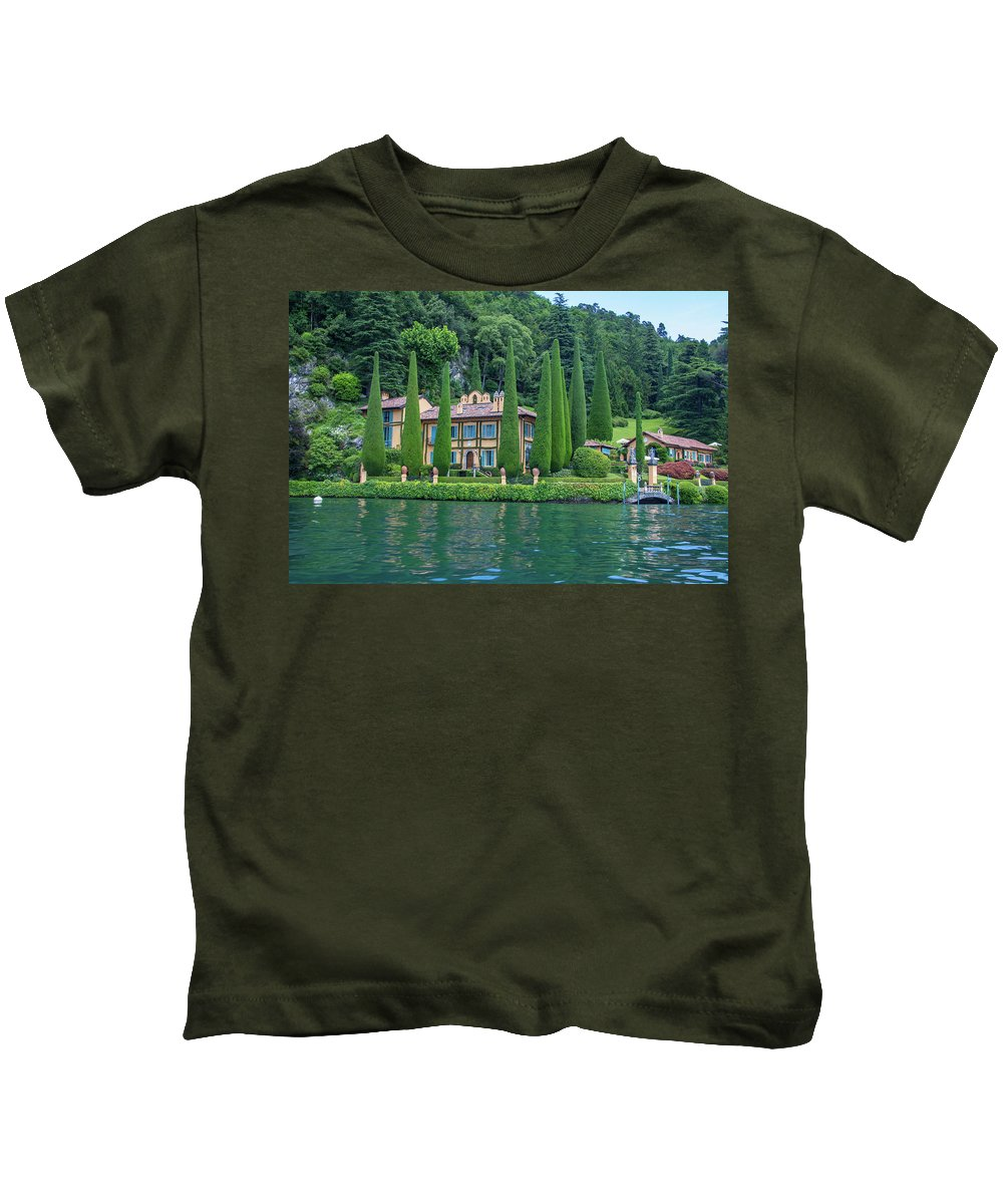 House Kids T-Shirt featuring the photograph Como by Kathy Whitehurst