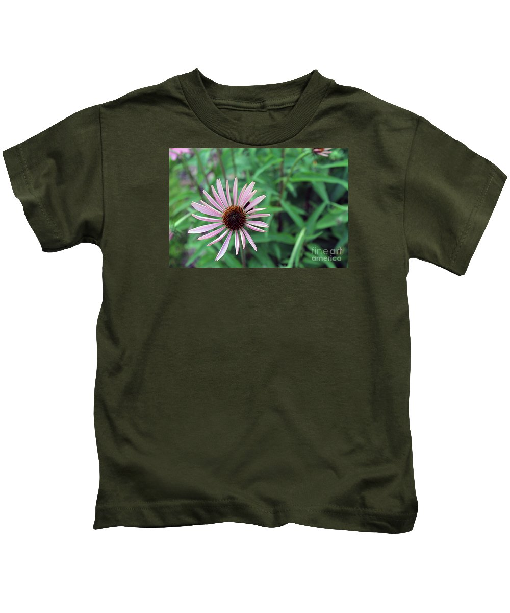 Flowers Kids T-Shirt featuring the photograph Cone Flower by Dan De Ment