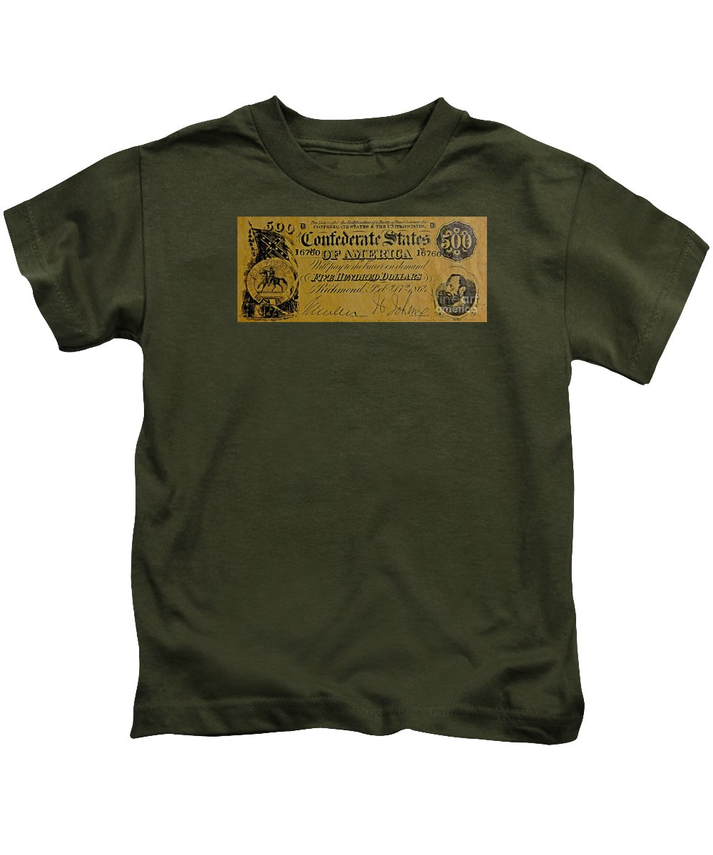 Confederate States Kids T-Shirt featuring the photograph Confederate States by Pd