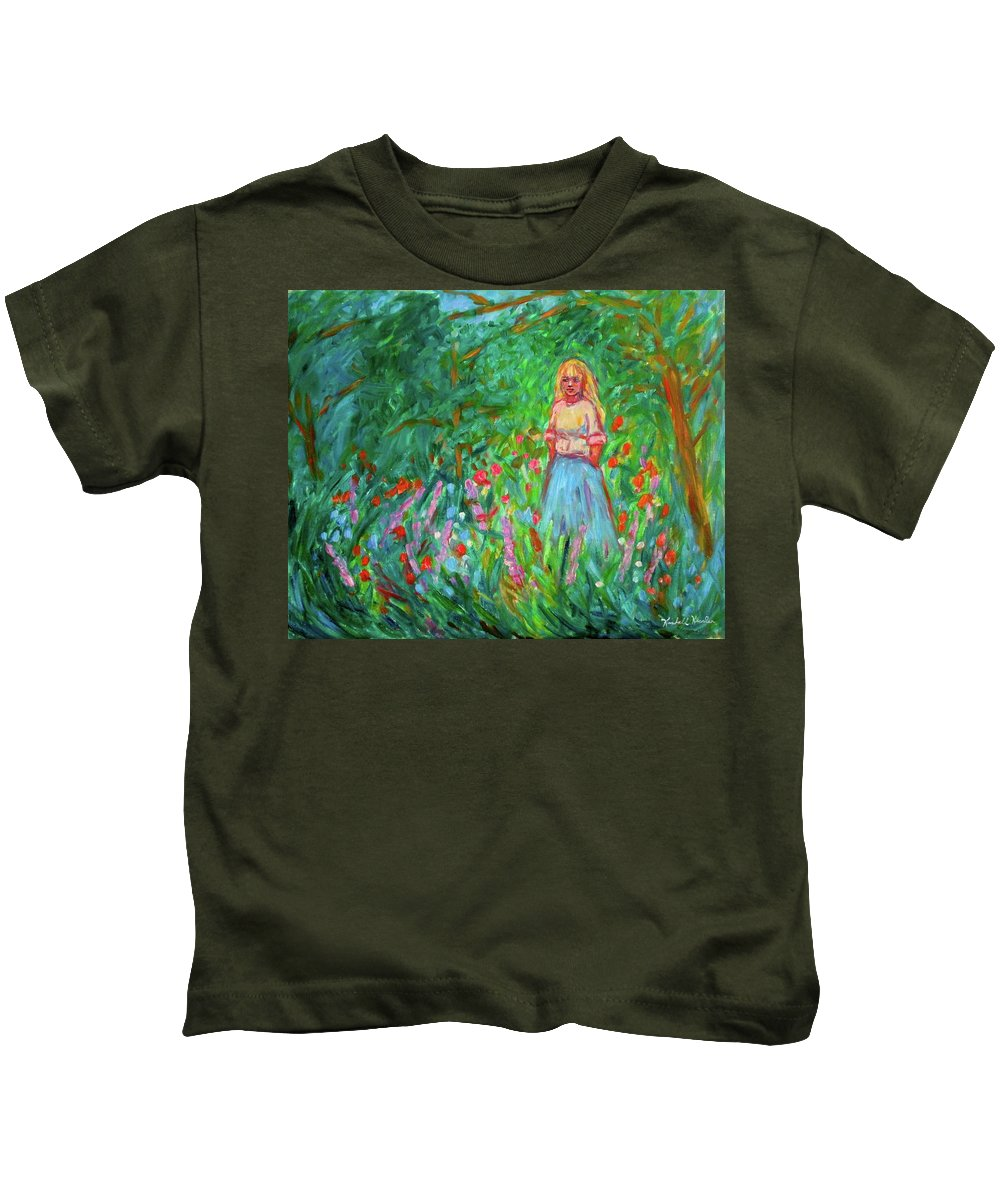 Landscape Kids T-Shirt featuring the painting Contemplation by Kendall Kessler