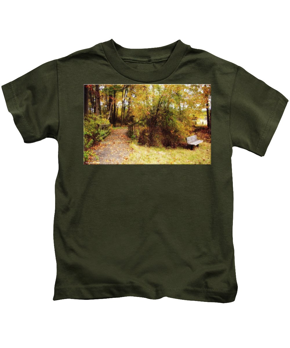 2d Kids T-Shirt featuring the photograph Contented Path by Brian Wallace