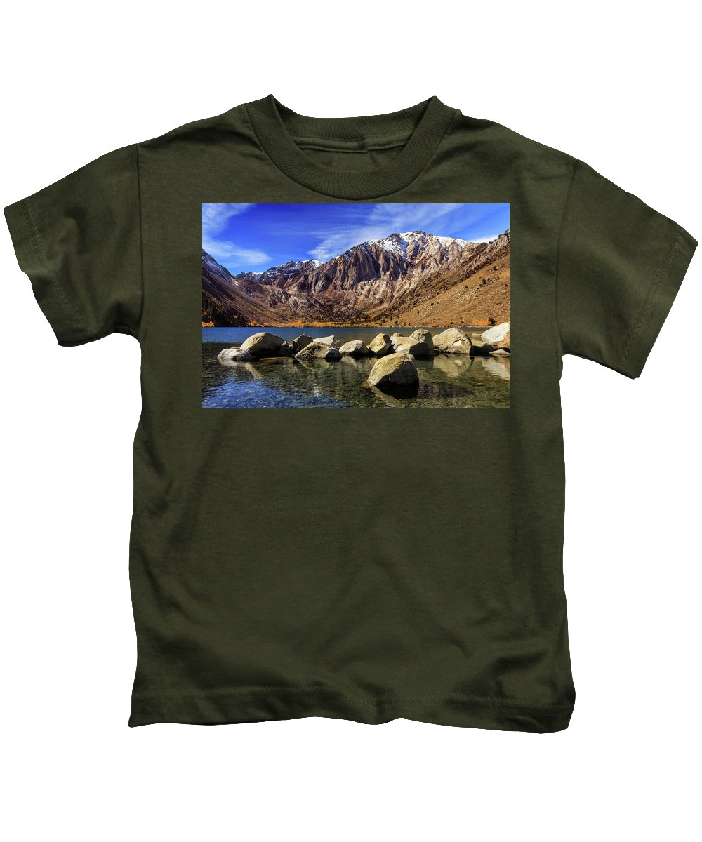 Landscape Kids T-Shirt featuring the photograph Convict Lake by James Eddy