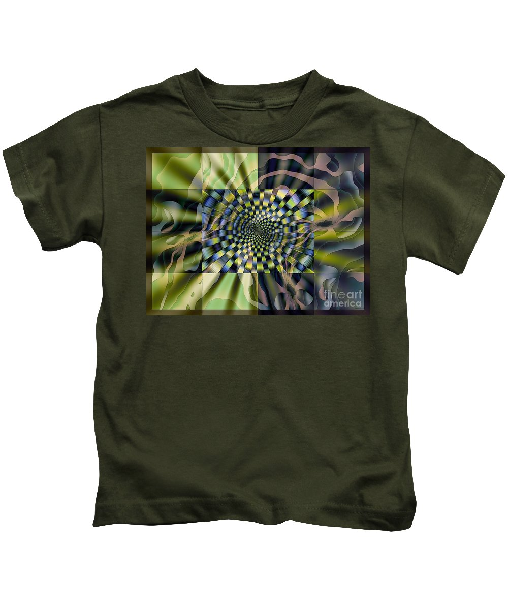 Cool Windows Kids T-Shirt featuring the digital art Cool Windows by Elizabeth McTaggart