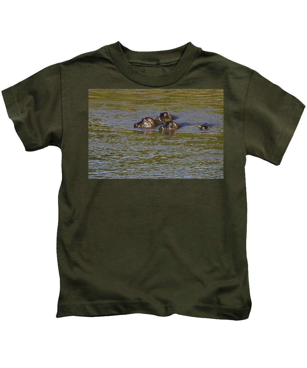 Africa Kids T-Shirt featuring the photograph Cooling Off by Michele Burgess