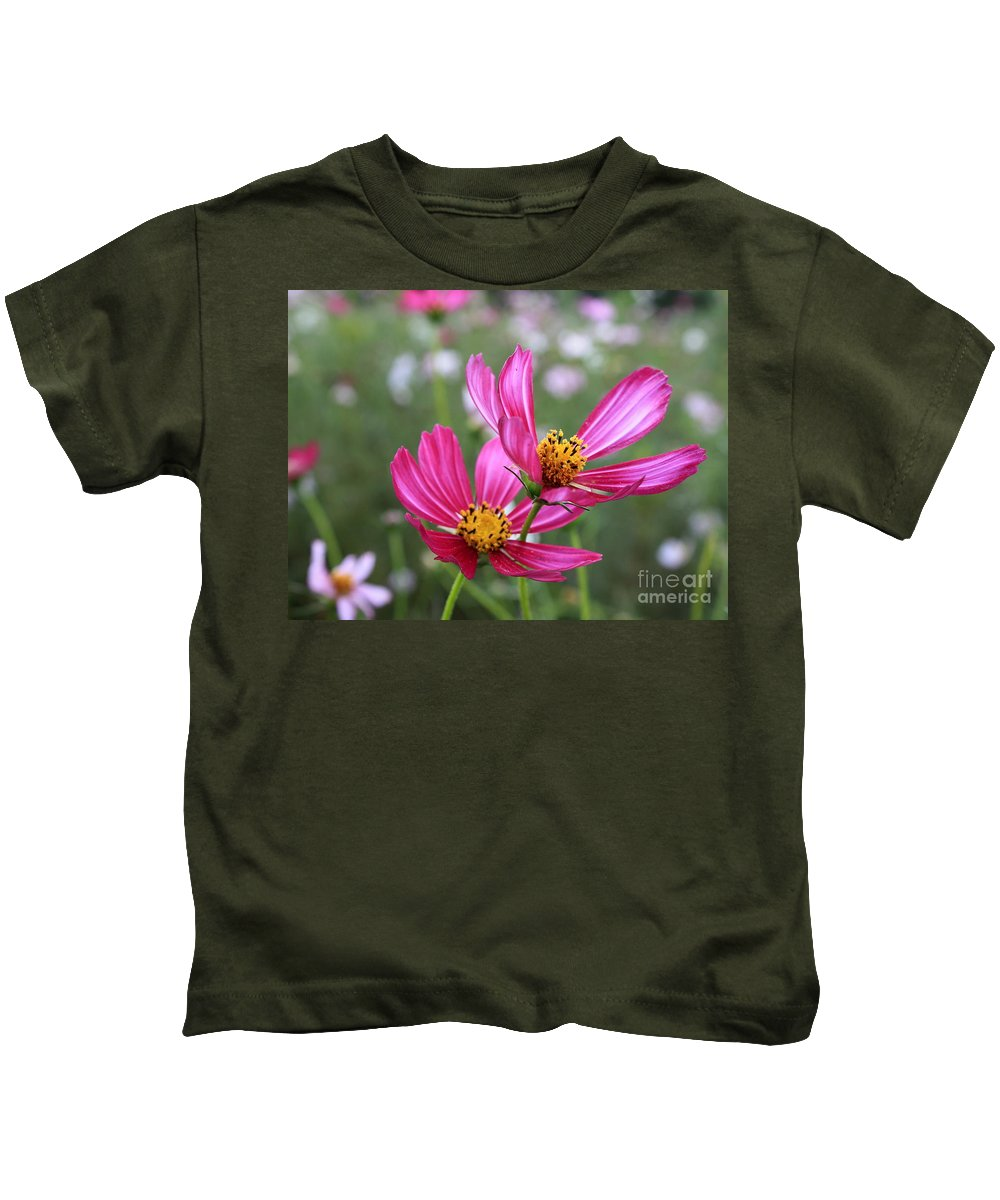 Cosmos Kids T-Shirt featuring the photograph Cosmos In Tokyo by Carol Groenen