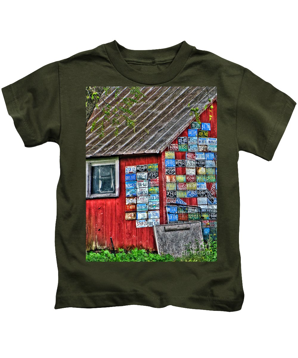Country Kids T-Shirt featuring the photograph Country Graffiti by September Stone