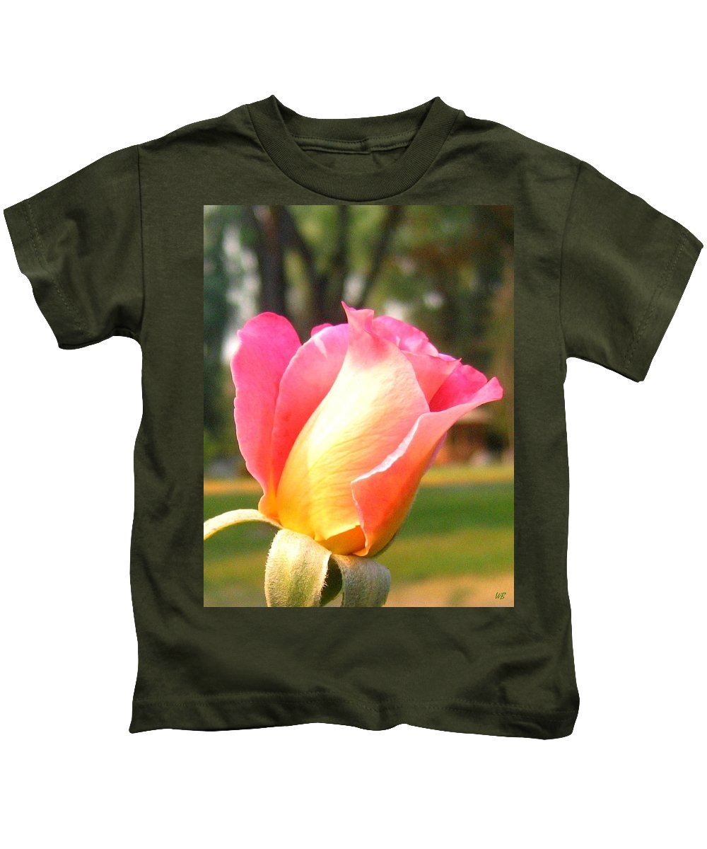 Rose Kids T-Shirt featuring the photograph Country Rose by Will Borden