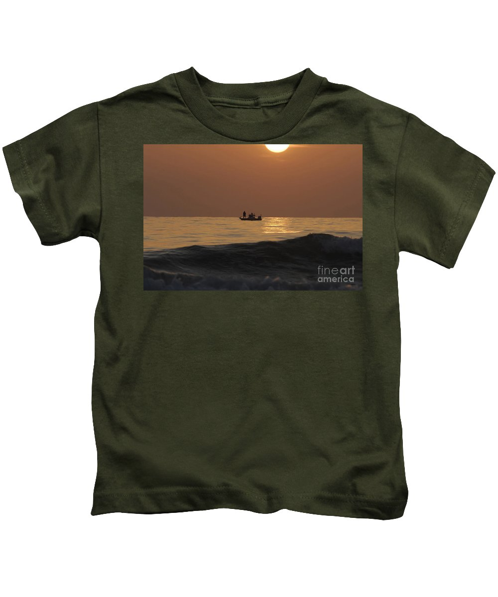 Sunset Kids T-Shirt featuring the photograph Couples At Sunset by David Lee Thompson