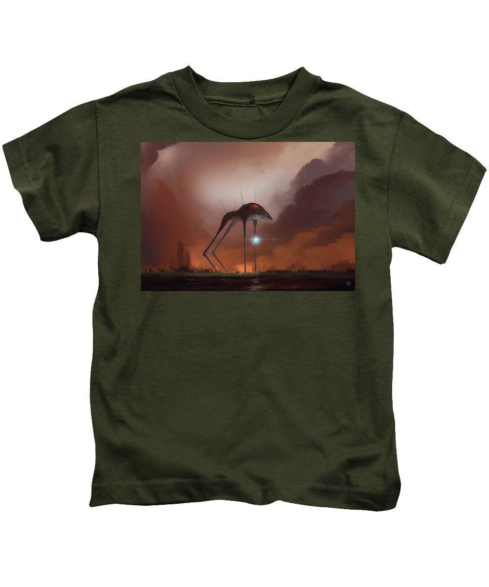 Creature Kids T-Shirt featuring the digital art Creature by Dorothy Binder