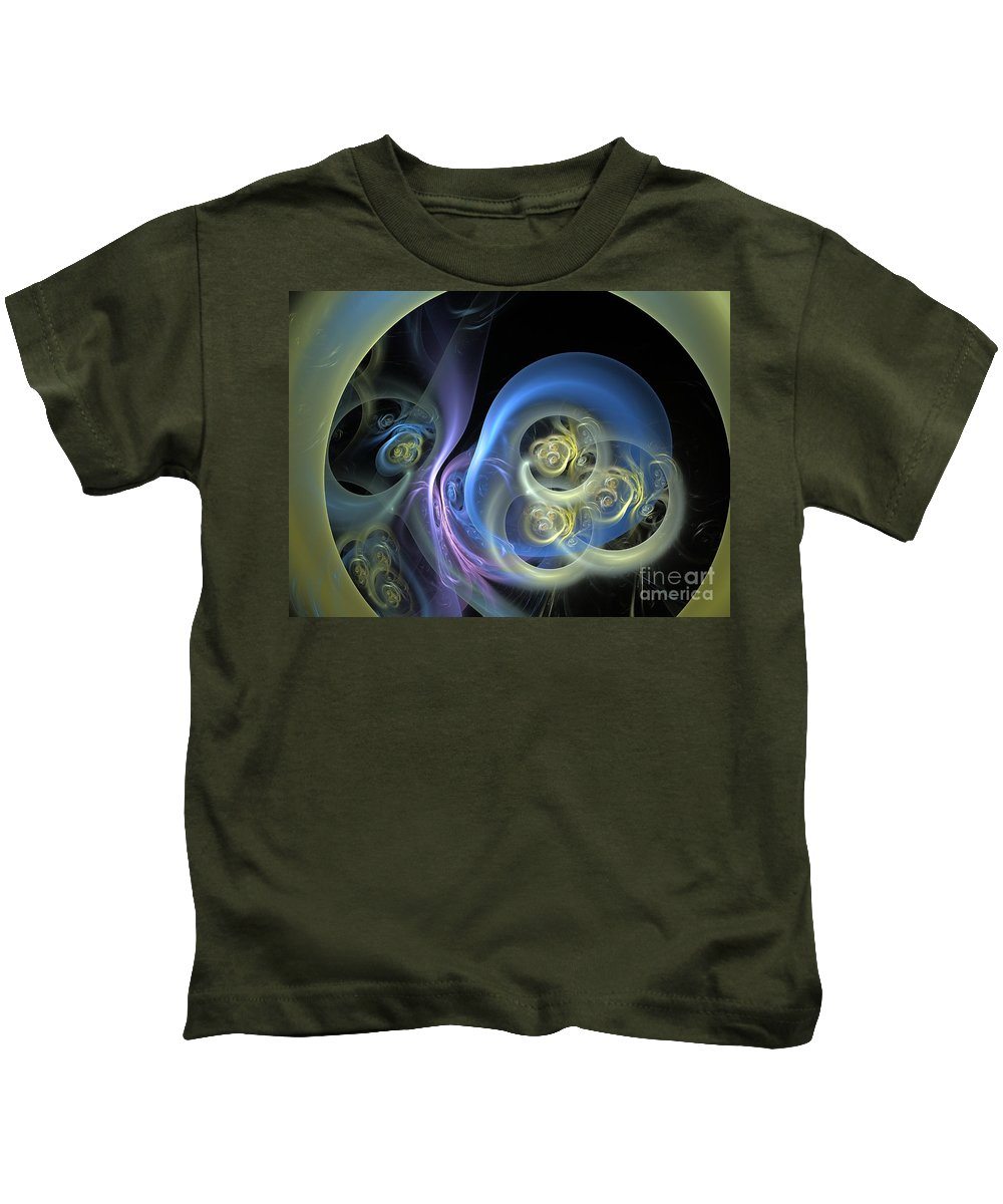 Apophysis Kids T-Shirt featuring the digital art Creatures From Beneath by Deborah Benoit