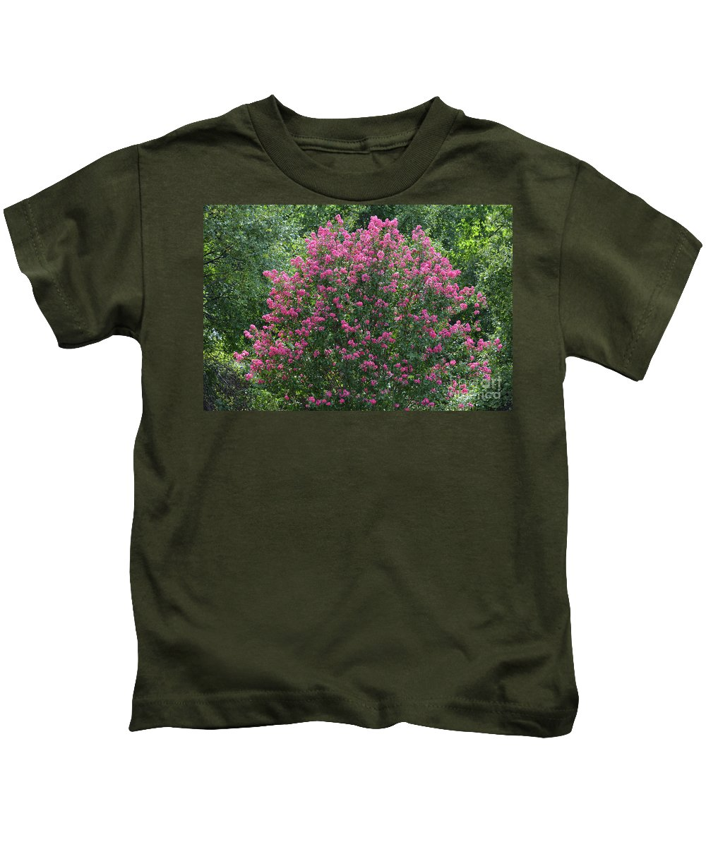 Crepe Myrtle Tree 2 Kids T-Shirt featuring the photograph Crepe Myrtle Tree 2 by Ruth Housley