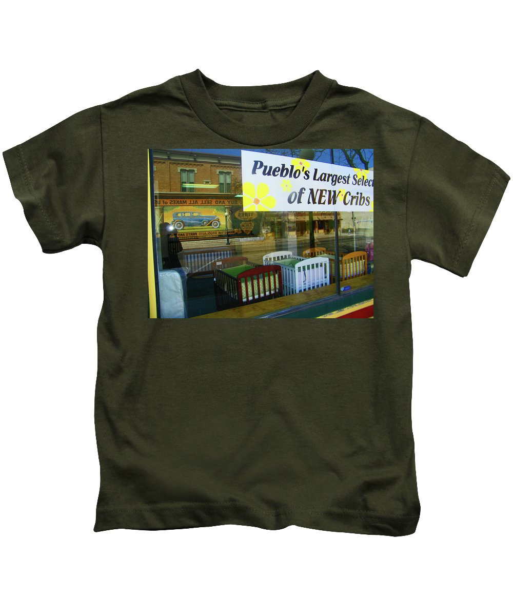 Abstract Kids T-Shirt featuring the photograph Cribs To Cars by Lenore Senior