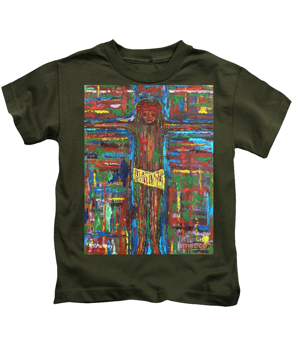 Easter Kids T-Shirt featuring the painting Cross 3 by Patrick J Murphy