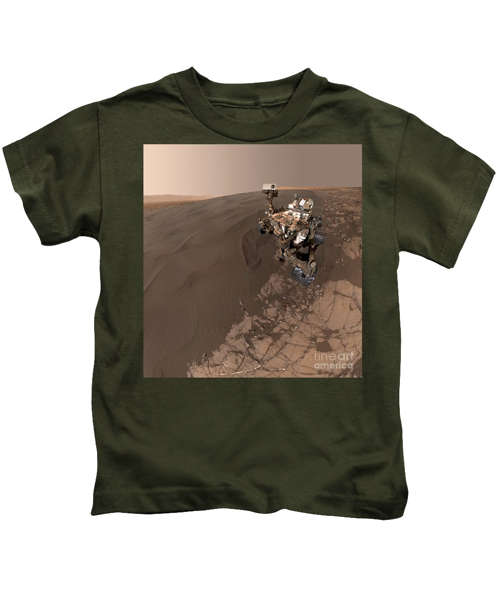 Science Kids T-Shirt featuring the photograph Curiosity Rover Self-portrait by Science Source
