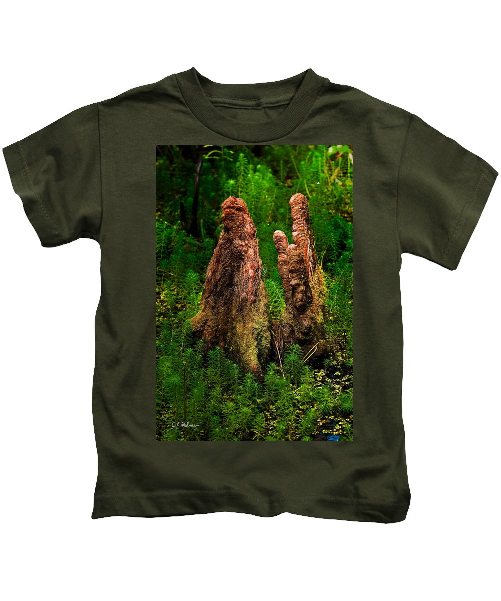 Christopher Holmes Photography Kids T-Shirt featuring the photograph Cypress Knees by Christopher Holmes