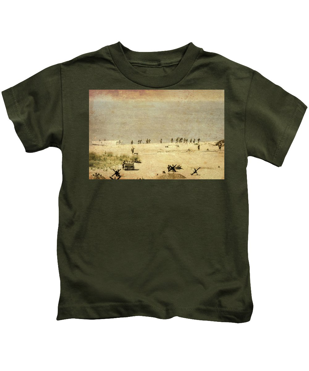 D-day Kids T-Shirt featuring the photograph D-day by Stewart Helberg