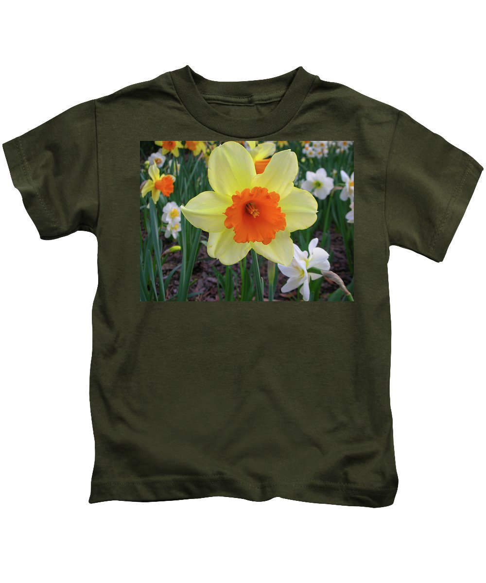 Flowers Kids T-Shirt featuring the photograph Daffodil 0796 by Guy Whiteley