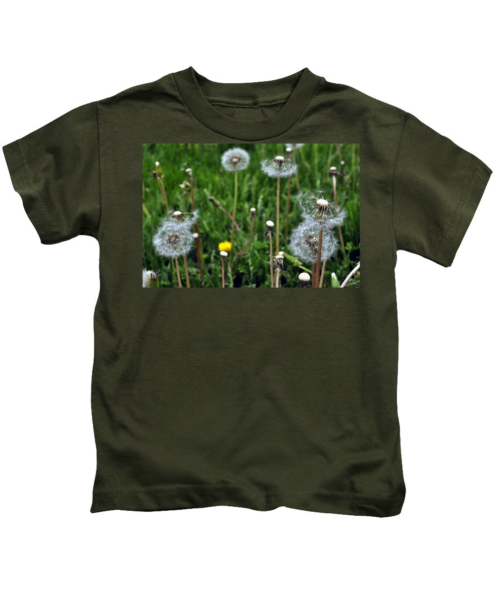 Dandelion Kids T-Shirt featuring the photograph Dandelion by David Kelso