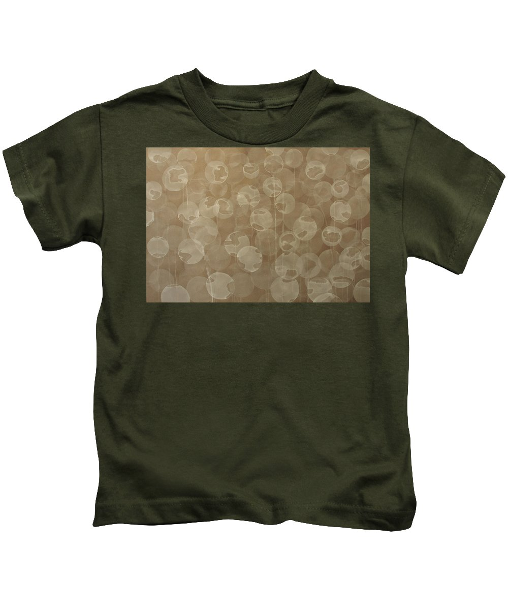 Abstract Kids T-Shirt featuring the painting Dandelion by Jitka Anlaufova