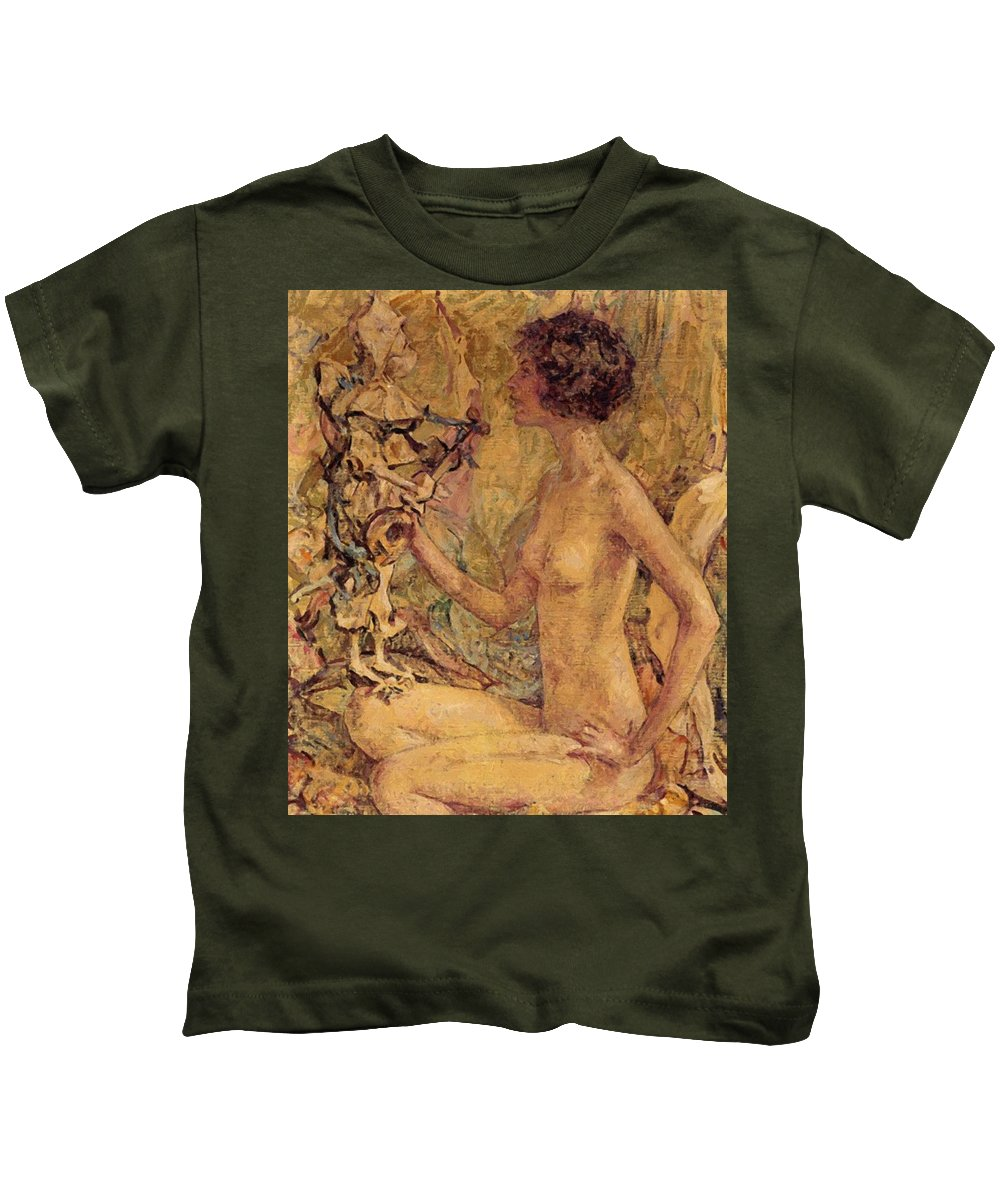 Daphne Kids T-Shirt featuring the painting Daphne by Reid Robert Lewis