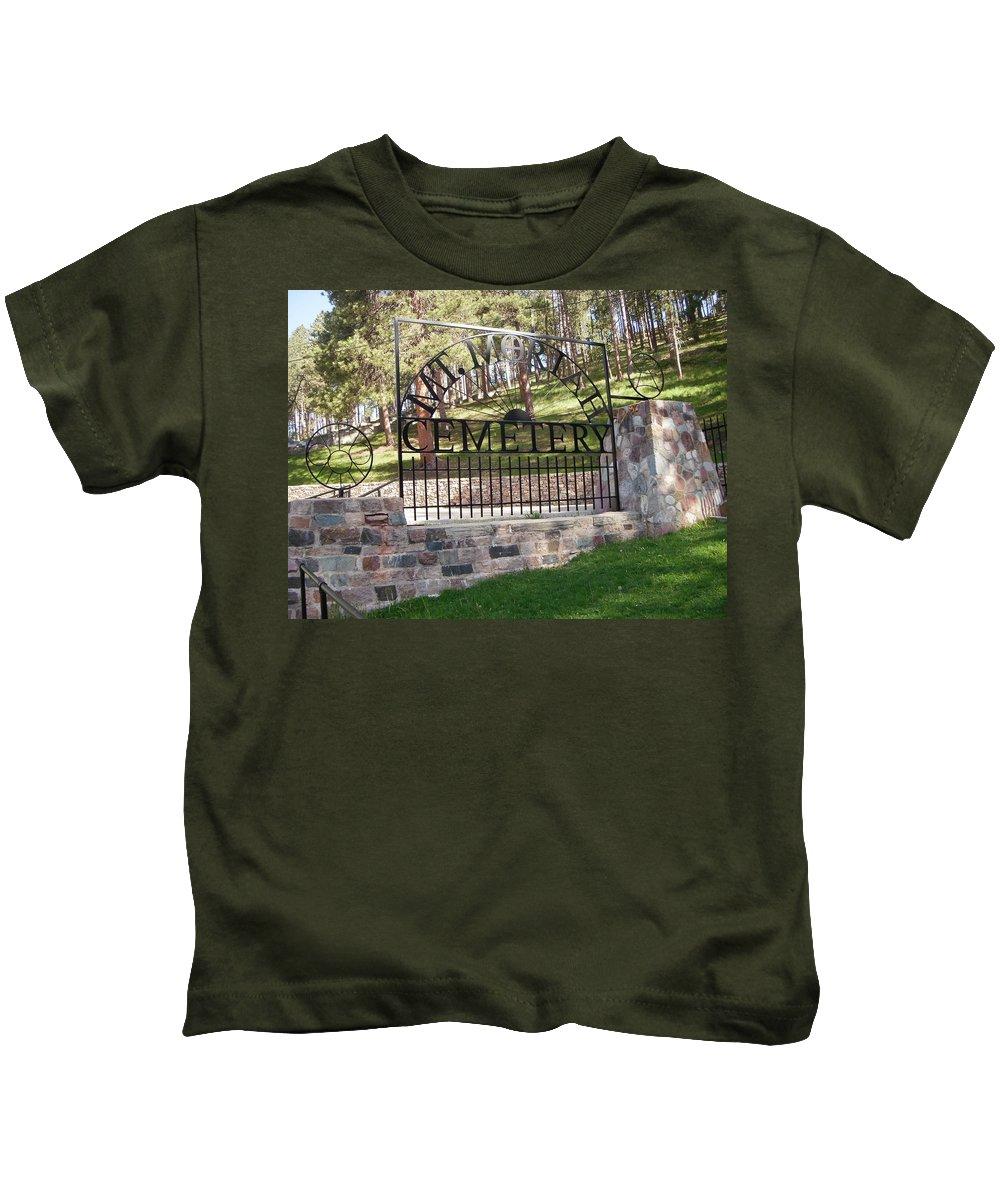 Sights Kids T-Shirt featuring the photograph Deadwood, South Dakota by Edward Wolverton