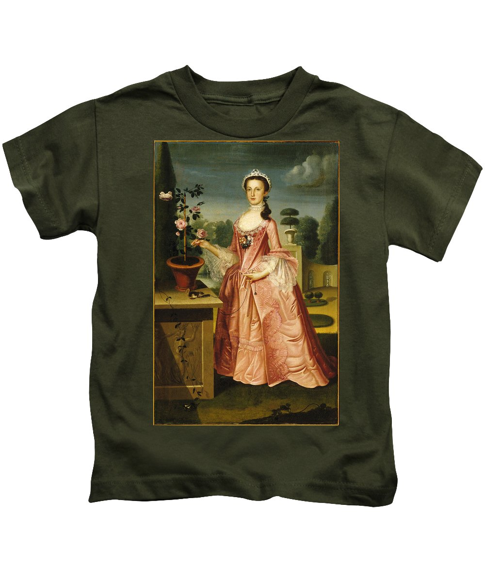 Deborah Hall By Williams Kids T-Shirt featuring the painting Deborah Hall by Celestial Images