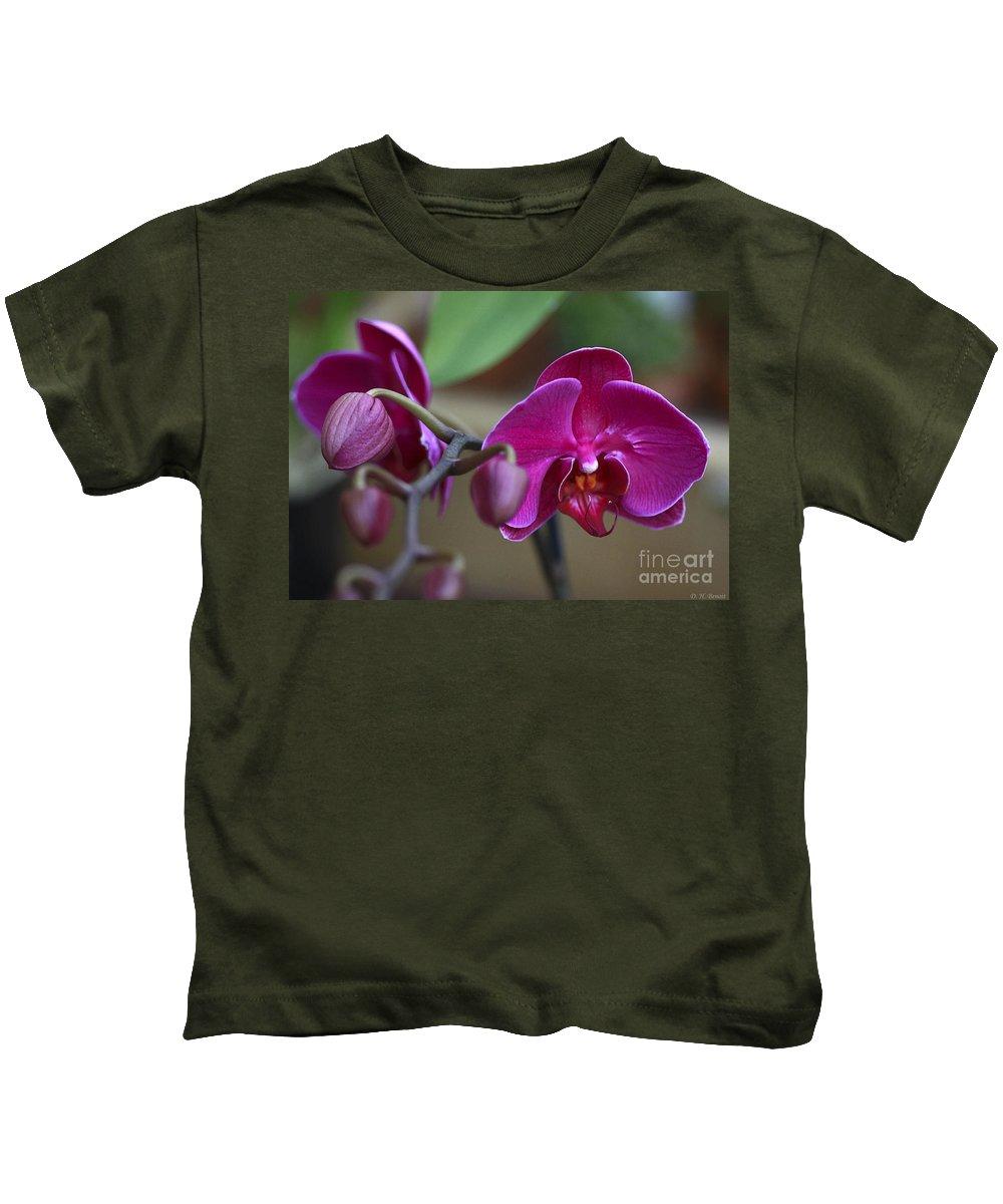Flower Kids T-Shirt featuring the photograph Deep Pink by Deborah Benoit