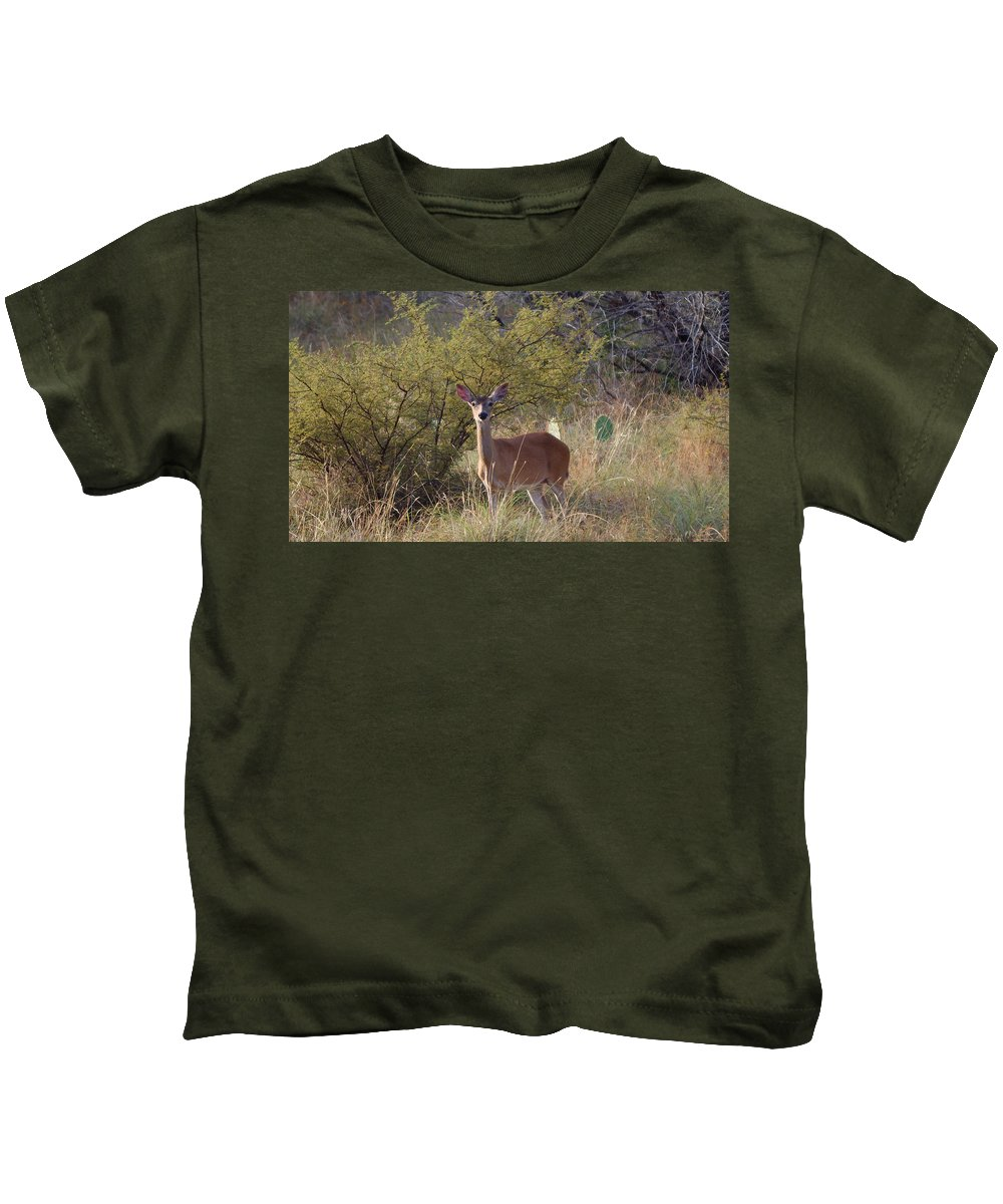 James Smullins Kids T-Shirt featuring the photograph Deer by James Smullins