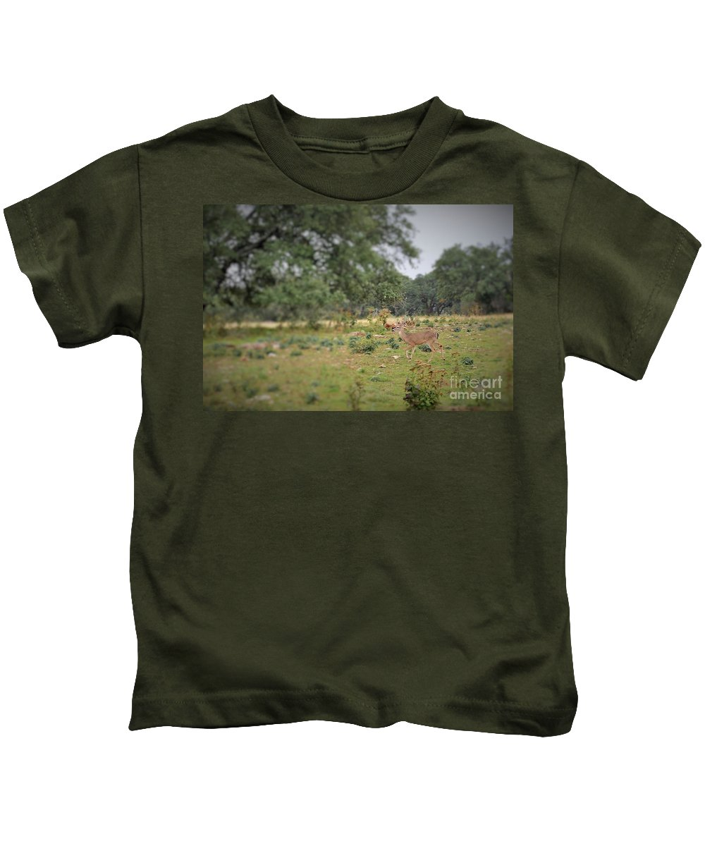 Kids T-Shirt featuring the photograph Deer48 by Jeff Downs