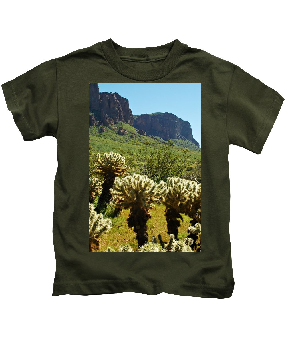 Arizona Kids T-Shirt featuring the photograph Desert Cholla 2 by Jill Reger