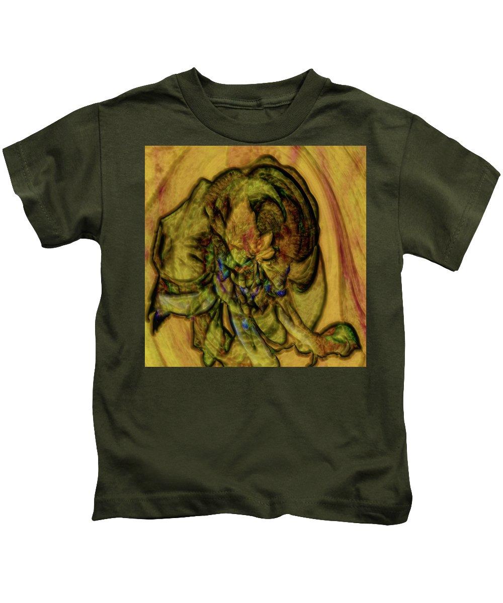 Abstract Kids T-Shirt featuring the digital art Desert Flower Dream by Richard Thomas
