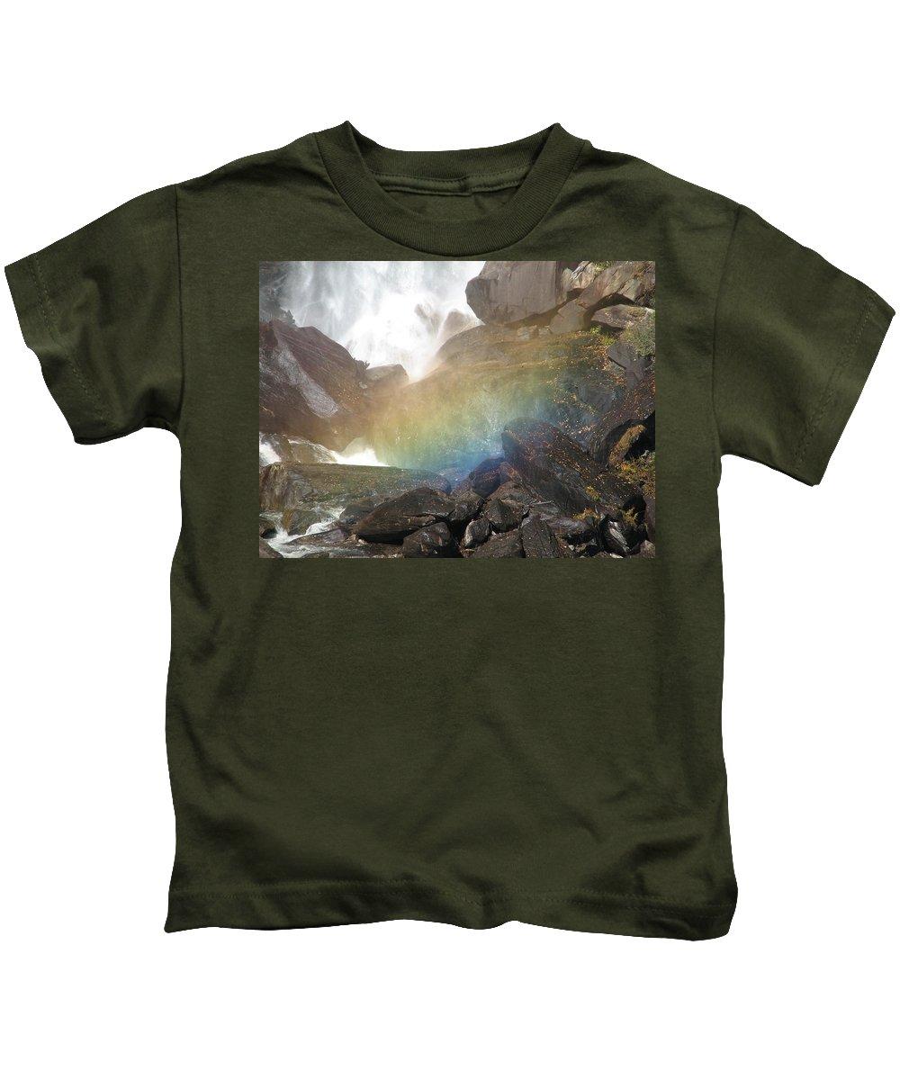 Devil's Fork Kids T-Shirt featuring the photograph Devil's Rainbow by Kelly Mezzapelle