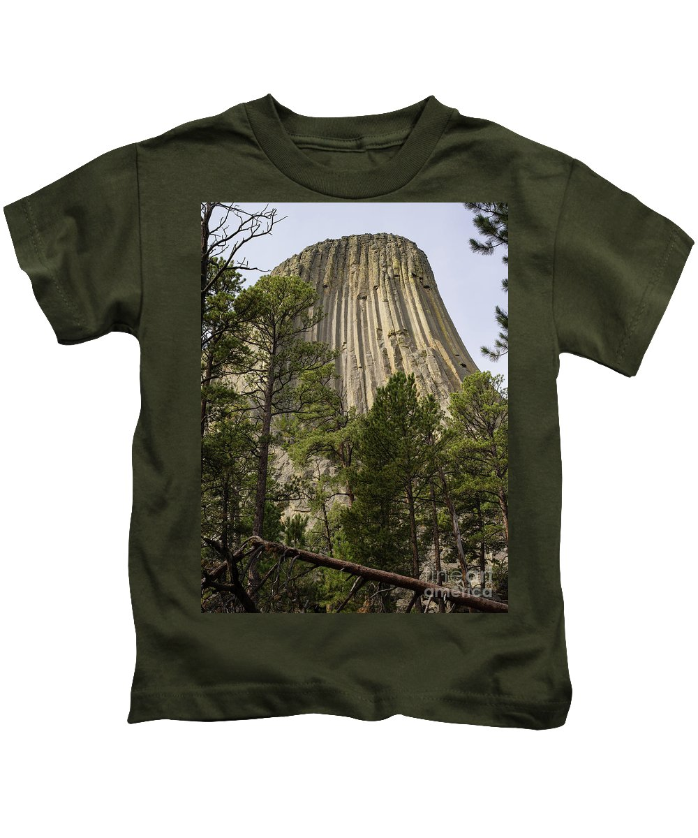Wyoming Kids T-Shirt featuring the photograph Devils Tower 10 by Tracy Knauer
