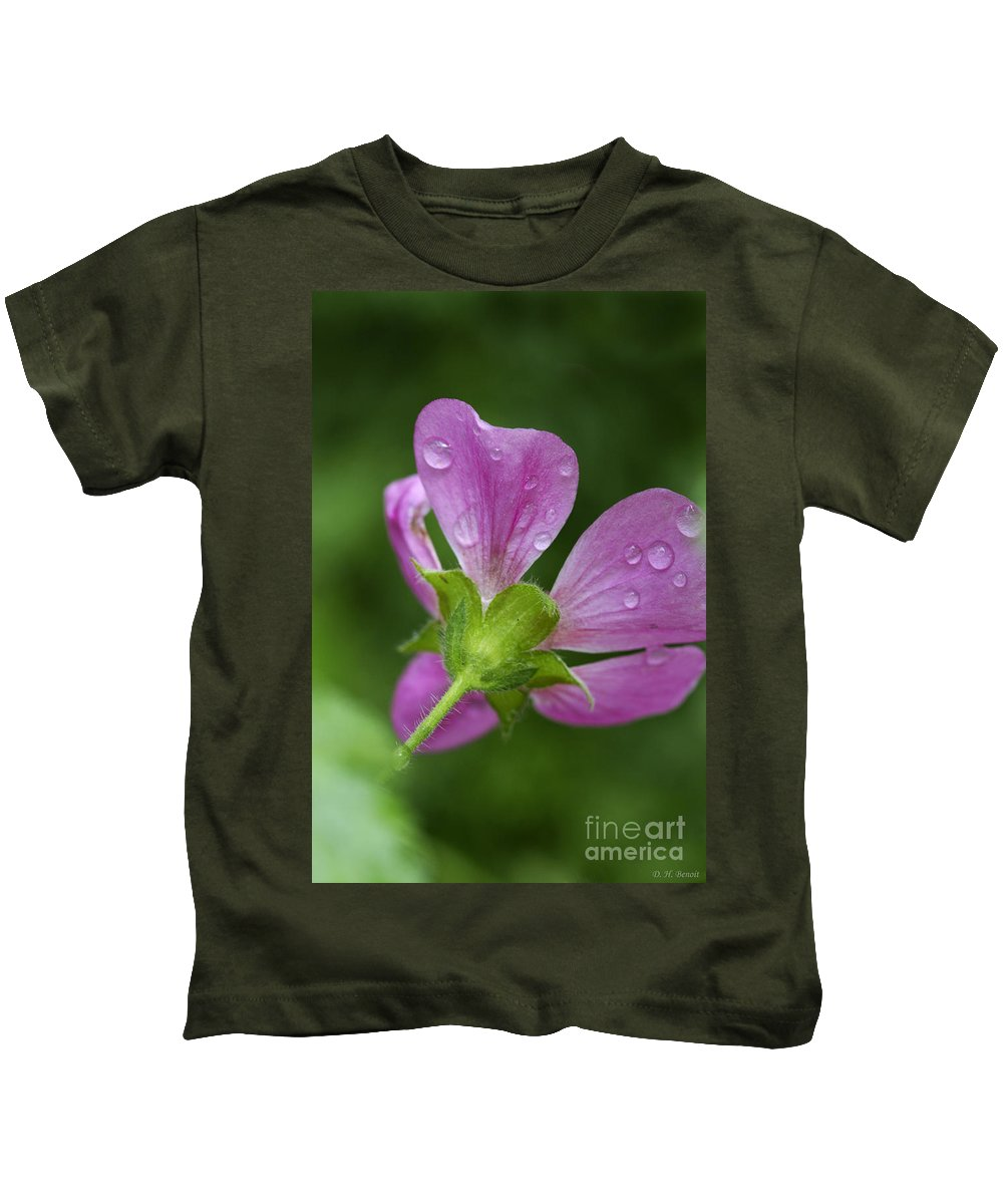 Flower Kids T-Shirt featuring the photograph Dew Kisses by Deborah Benoit