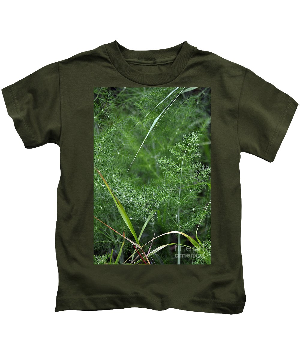 Clay Kids T-Shirt featuring the photograph Dew On The Ferns by Clayton Bruster