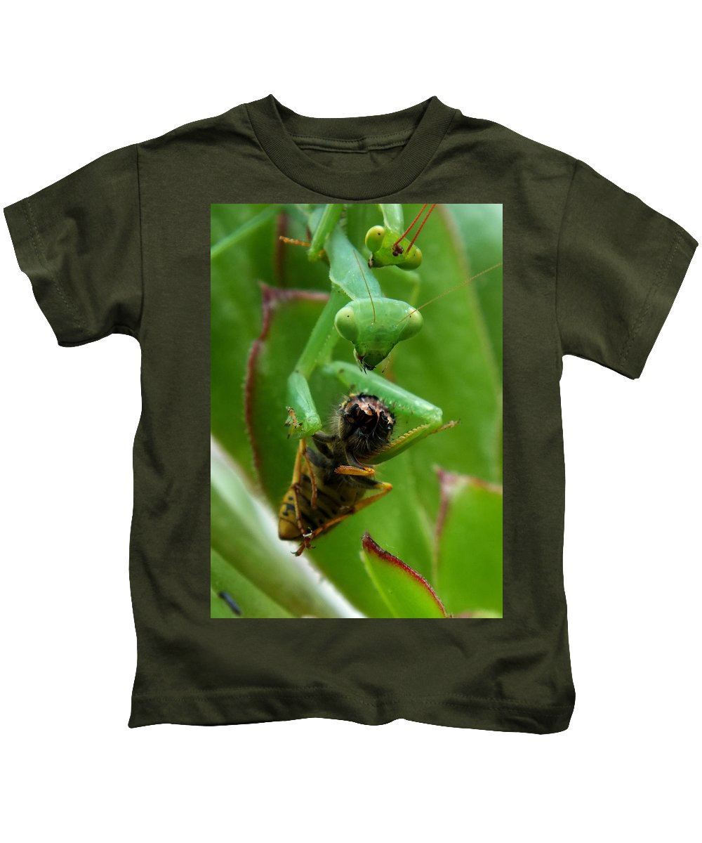 Macro Kids T-Shirt featuring the photograph Dinner For Two by Guy Pettingell
