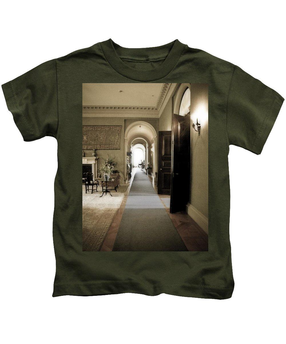 Mansions Kids T-Shirt featuring the photograph Dinner Is Serve4d by Karen W Meyer