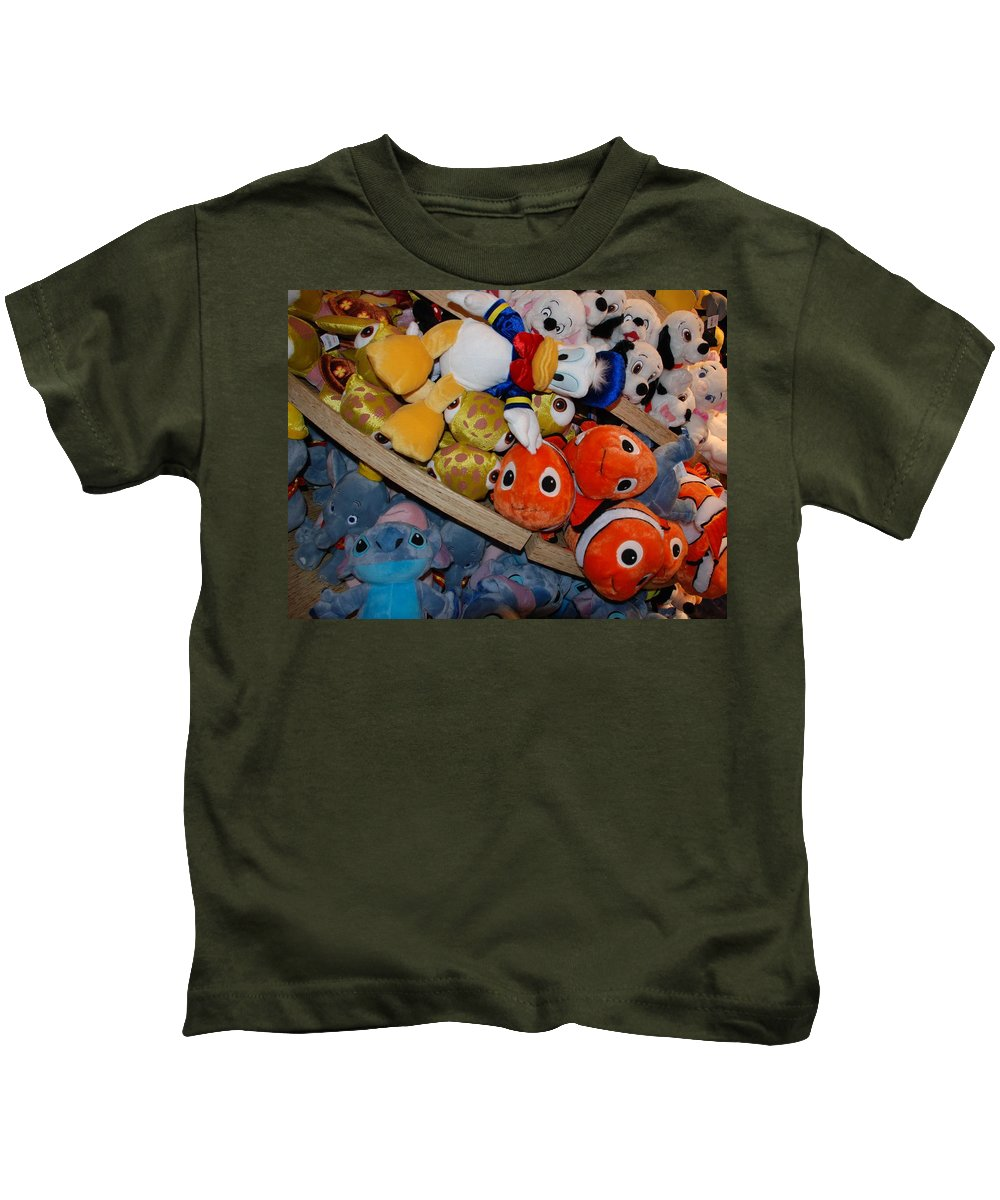 Colors Kids T-Shirt featuring the photograph Disney Animals by Rob Hans