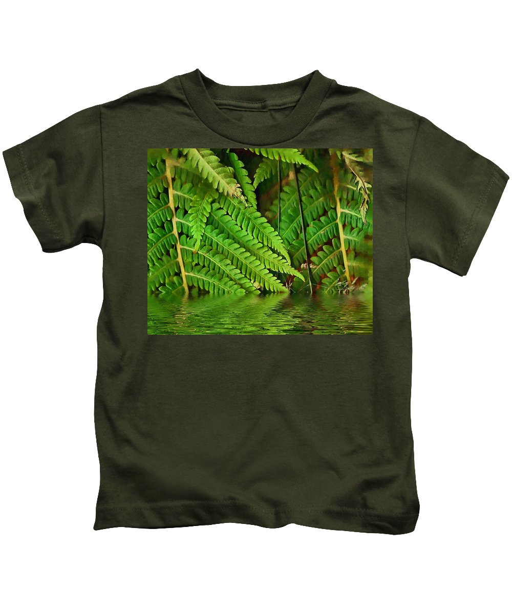 Djungle Kids T-Shirt featuring the mixed media Djungle by Pepita Selles