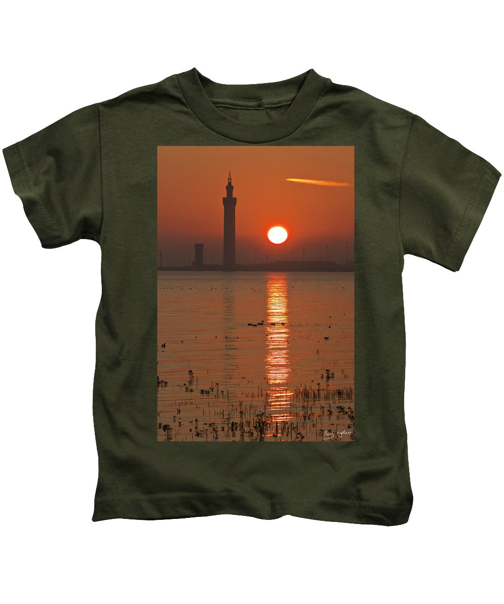 Grimsby Kids T-Shirt featuring the photograph Dock Tower Sunrise by Ray Hydes