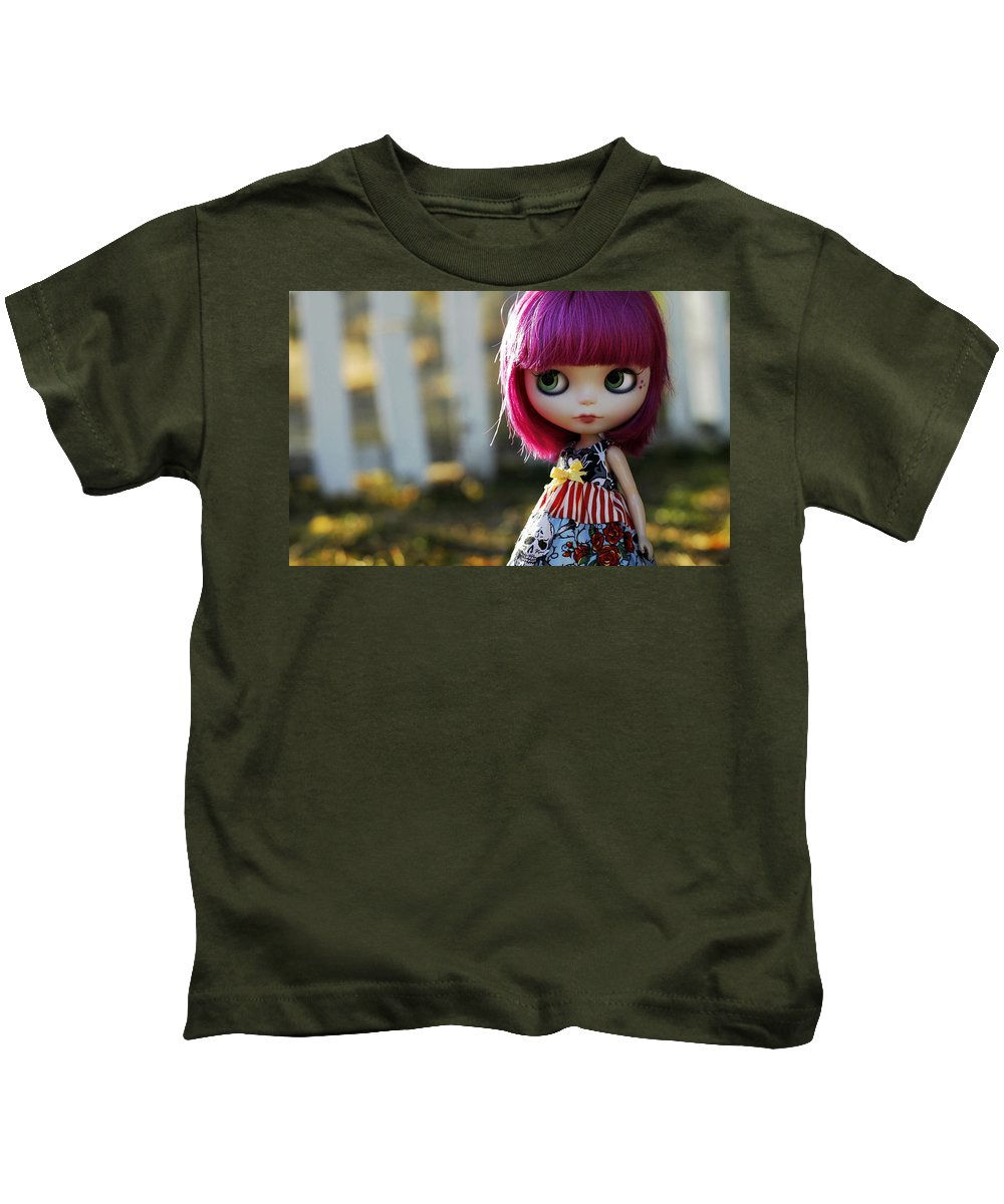 Doll Kids T-Shirt featuring the digital art Doll by Dorothy Binder