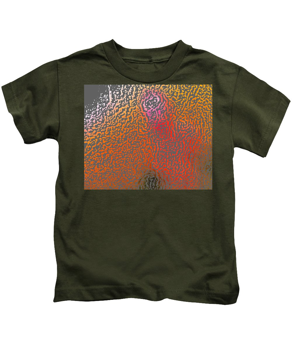Abstract Kids T-Shirt featuring the digital art Dont Know But I Like It by Lenore Senior