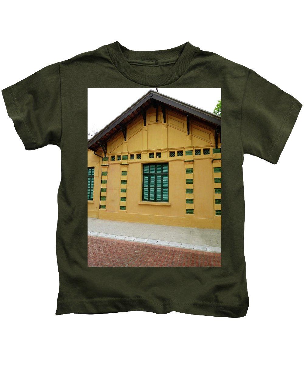 Vietnam Kids T-Shirt featuring the digital art doors and windows Officialcolors by Tsafreer Bernstein