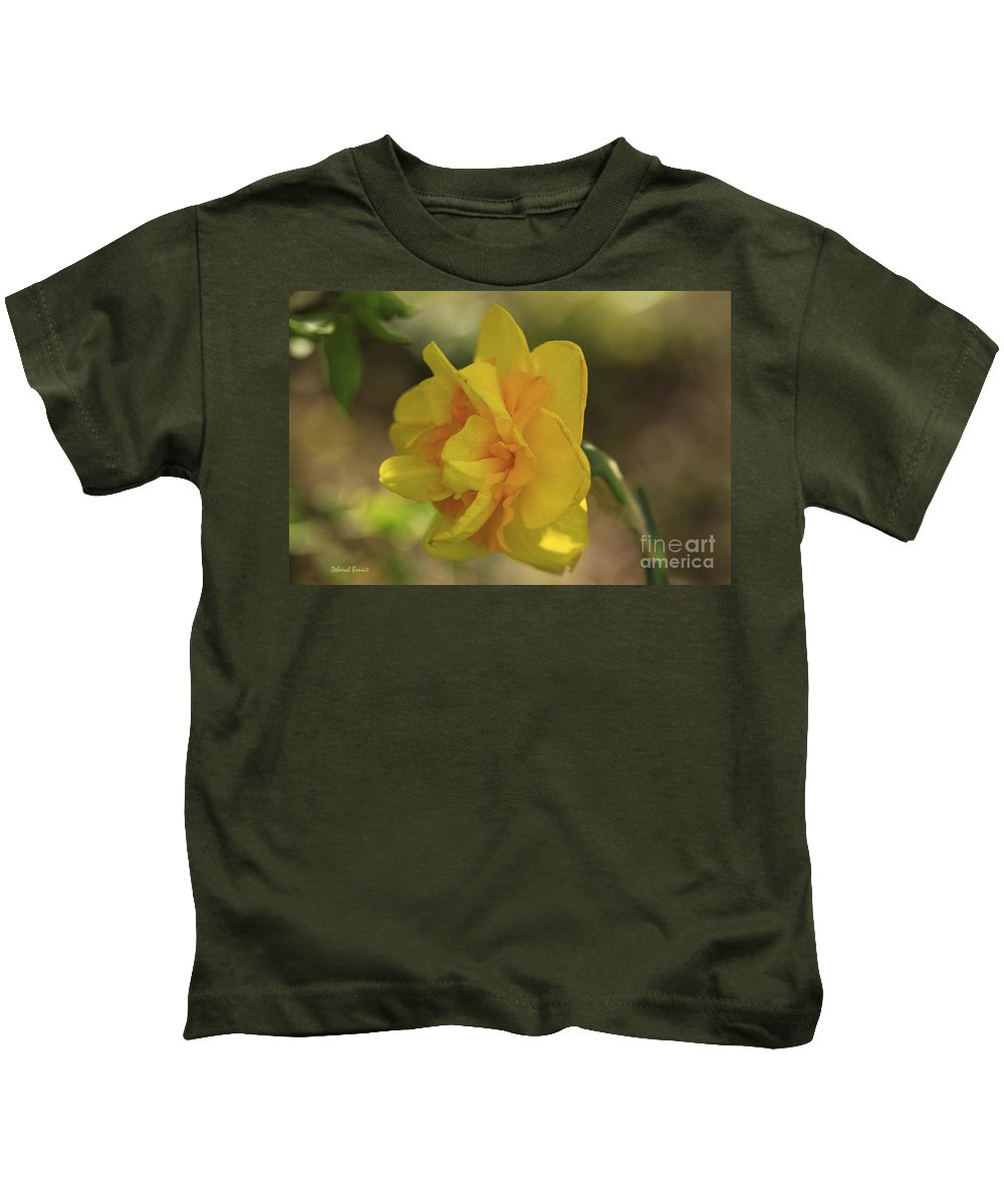 Flower Kids T-Shirt featuring the photograph Double Daffodil by Deborah Benoit