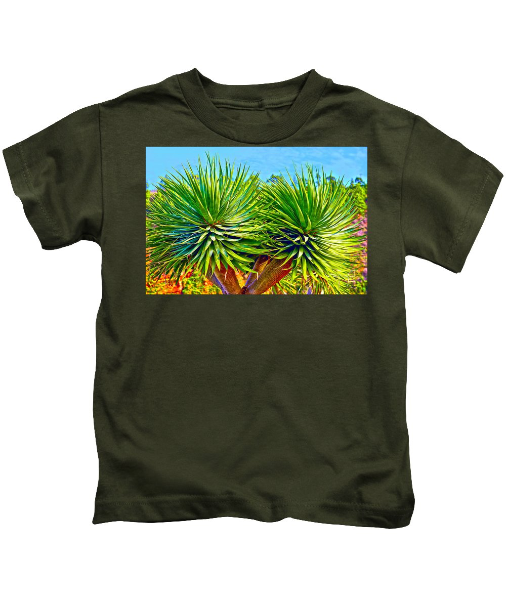 Canary Islands Kids T-Shirt featuring the photograph Double Mass With Tips by Jean-luc Bohin