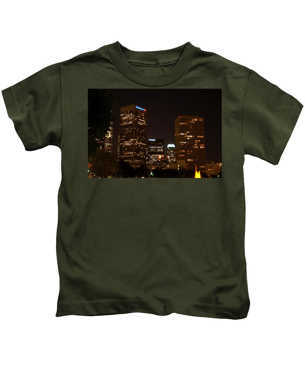 Clay Kids T-Shirt featuring the photograph Downtown L.a. In Hdr by Clayton Bruster