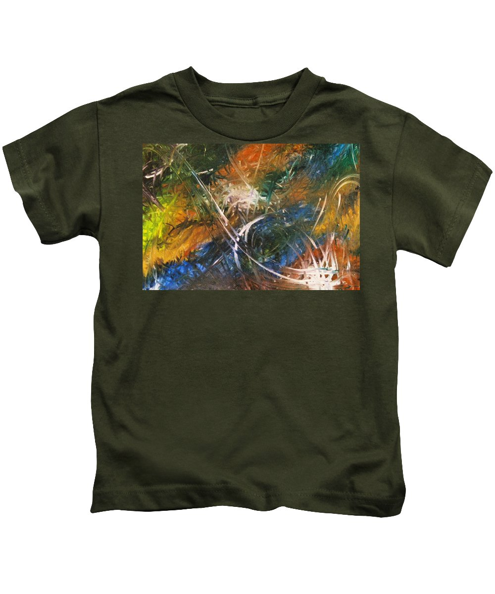 Dragon Kids T-Shirt featuring the painting Dragon by Kim Rahal