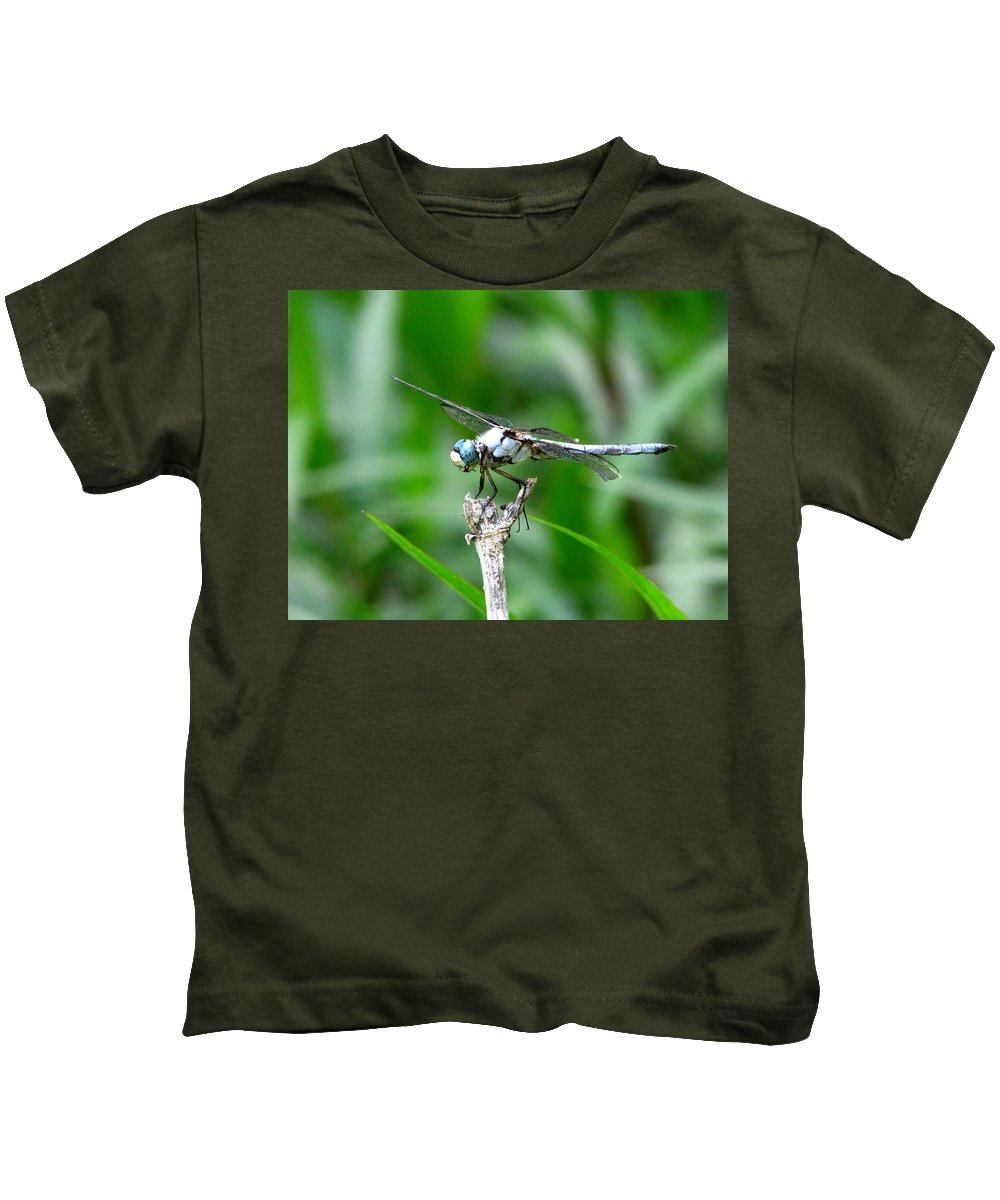 Dragonfly Kids T-Shirt featuring the photograph Dragonfly 15 by J M Farris Photography