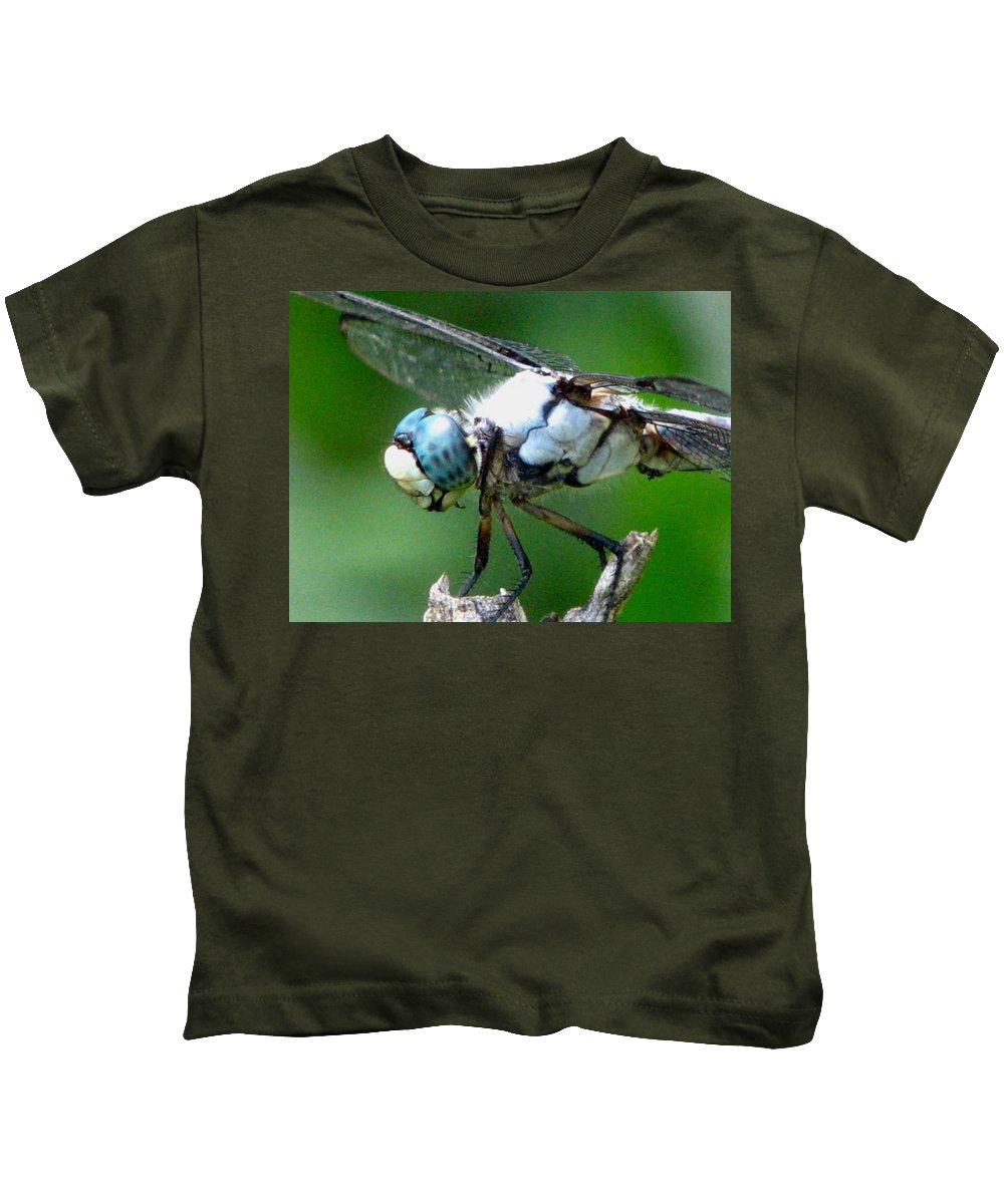 Dragonfly Kids T-Shirt featuring the photograph Dragonfly 16 by J M Farris Photography
