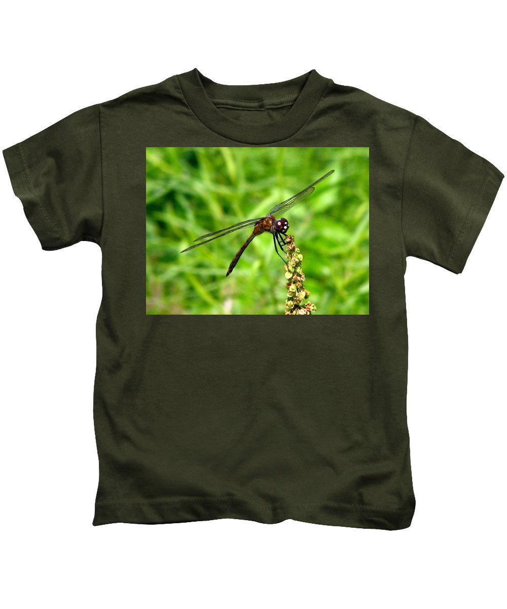 Dragonfly Kids T-Shirt featuring the photograph Dragonfly 7 by J M Farris Photography